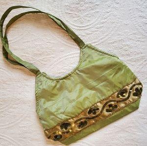Akua Silk Beaded Sequined Purse